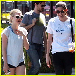 Amanda Seyfried & Jennifer Carpenter Share Lots of Laughs on Their Coffee Date