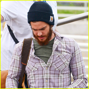 Andrew Garfield Touches Down in Venice After Emma Stone
