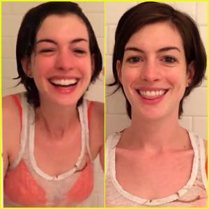 Anne Hathaway Joins Instagram to Do ALS Ice Bucket Challenge - Watch Now!