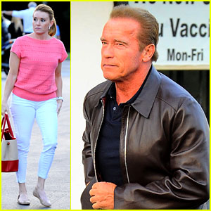 Arnold Schwarzenegger Takes Girlfriend Heather Milligan Out for Dinner