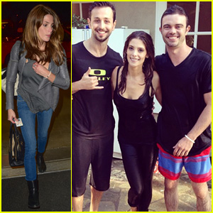 Ashley Greene Completes ALS Ice Bucket Challenge Before Jumping into a Pool - Watch Now!