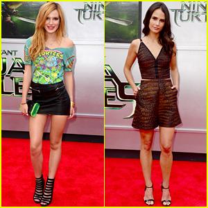 56c7b42648a05 Bella Thorne Rocks Retro  Teenage Mutant Ninja Turtles  T-Shirt at the  Movie s Premiere!