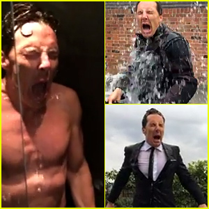 Benedict Cumberbatch Gets Naked for the Ice Bucket Challenge - Watch Now!