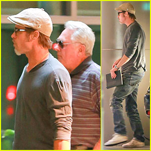 Brad Pitt Brings Dad William to Private 'Fury' Screening