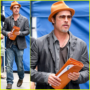 Brad Pitt Steps Out with His Wedding Ring in New York City