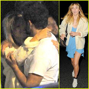 Bradley Cooper Embraces Girlfriend Suki Waterhouse on Set