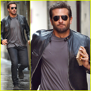 Bradley Cooper Makes a Mad Dash Down the Street For His Latest Film!