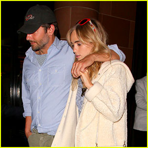 Bradley Cooper Puts a Protective Arm Around Suki Waterhouse