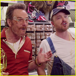Bryan Cranston & Aaron Paul Reunite For This Hilarious Short Where They Scrutinize Julia Louis-Dreyfus' Emmy! (Video)