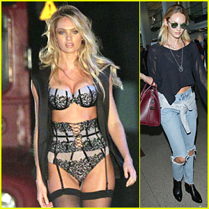 0a203bdf3c Victoria's Secret Model Candice Swanepoel's Sexy Lingerie Body Is a Sight  to See in L.A.