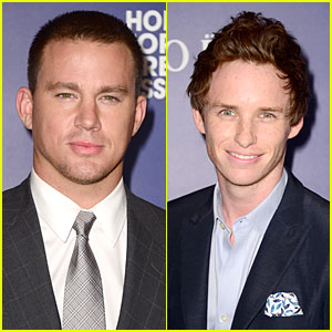 Channing Tatum & Eddie Redmayne Are Suave Studs at HFPA Grants Banquet