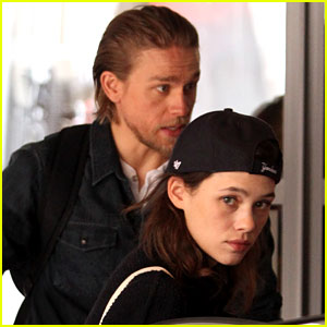 Charlie Hunnam Hangs with Astrid Berges-Frisbey in London