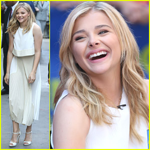 Chloe Moretz Promotes 'If I Stay' at Good Morning America With Jamie Blackley