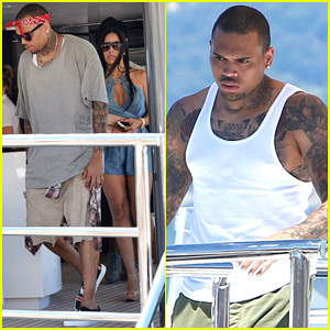 Chris Brown & Karrueche Tran Split, He Escapes to Saint-Tropez to Hang with Mystery Female