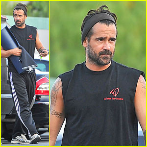 Colin Farrell Gets In Yoga Time Before the Weekend