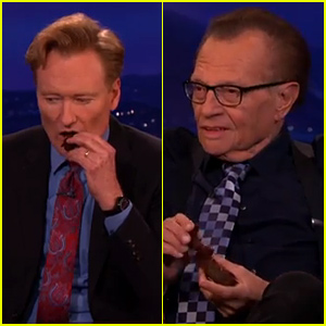 Conan O'Brien & Larry King Eat a Pot Brownie Together & Get the Giggles - Watch Now!