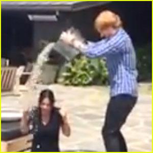 Courteney Cox Gets Ed Sheeran's Help for Ice Bucket Challenge!