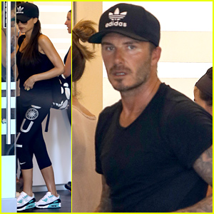 David & Victoria Beckham Get in a Family Workout Together!