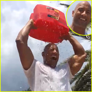 Dwayne 'The Rock' Johnson Puts His Huge Muscles on Display in Ice Bucket Challenge - Watch Now!