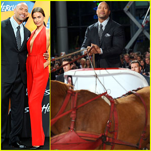 Dwayne 'The Rock' Johnson Makes His Grand Entrance into the 'Hercules' Premiere!