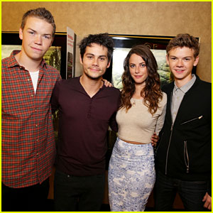 Dylan O'Brien Sends Fans into a Frenzy at Just Jared 'Maze Runner' Screening - Exclusive Pics Here!