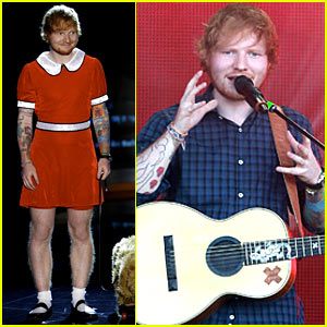 Ed Sheeran Dresses Up as Little Orphan Annie for 'Kimmel'!