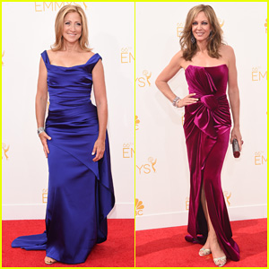 Edie Falco & Allison Janney Brighten Up the Emmys 2014 Red Carpet!