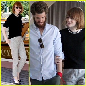 Emma Stone & Andrew Garfield are Venice Lunch Lovers