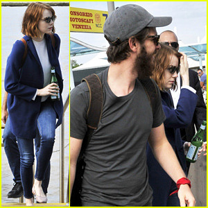 Emma Stone & Andrew Garfield Fly Out of Venice After Attending Film Festival Together