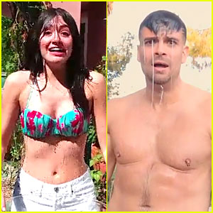 Emmy Rossum & Mark Salling Strip Down for Ice Bucket Challenge!