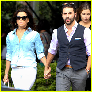 Eva Longoria & Boyfriend Jose Antonio Baston Hold Hands After Romantic Lunch