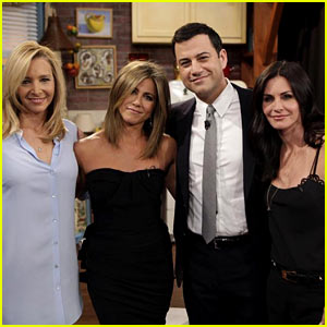 'Friends' Reunion on Kimmel - Watch Video of Jennifer Aniston, Courteney Cox, & Lisa Kudrow Back Together!