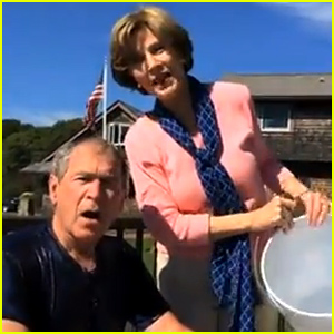 Former President George W. Bush Takes Ice Bucket Challenge, Nominates Former President Bill Clinton!