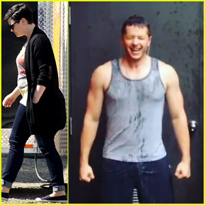 Josh Dallas & His Buff Arms Take the Ice Bucket Challenge!