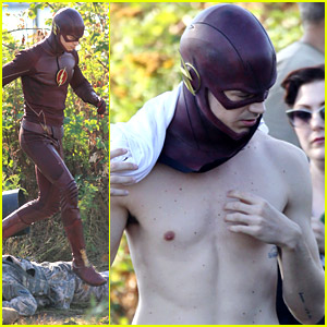 Grant Gustin Films Exploding 'Flash' Scene in Vancouver