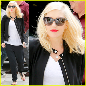 Gwen Stefani Gets In Some Solo Time Before Leaving London