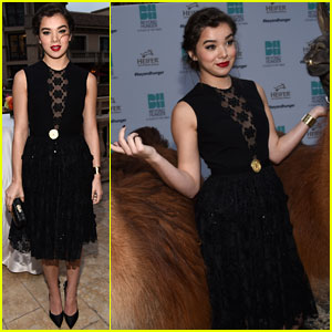 Hailee Steinfeld Mingles with a Pair of Llamas at Beyond Hunger