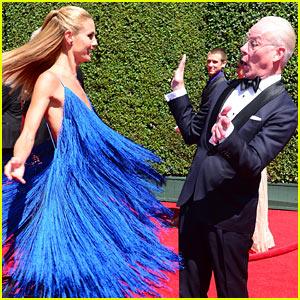 Heidi Klum Twirls Into Tim Gunn at the Creative Arts Emmys 2014