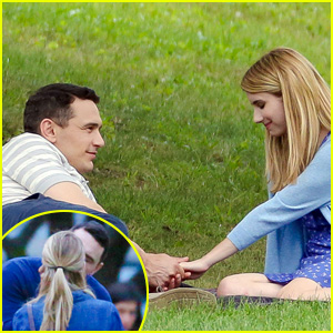 James Franco & Emma Roberts Make Out for 'Michael' Filming
