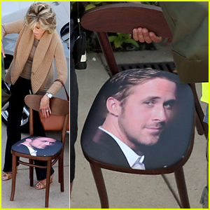 Jane Fonda Carrying a Ryan Gosling Chair May Be the Best Photo You See All Day!