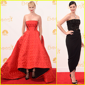 January Jones & Jessica Pare Are Gorgeous Ladies at the Emmys 2014