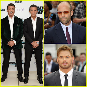 Jason Statham & Kellan Lutz Join 'Expendables 3' Cast at London World Premiere!