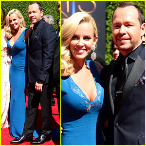 Jenny McCarthy Supports Her Man Donnie 'Wahlburger' at the Creative Arts Emmys 2014
