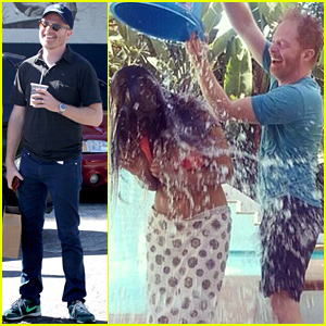 Jesse Tyler Ferguson Pours Ice Water Over Padma Lakshmi's Head for Ice Bucket Challenge - Watch Now!