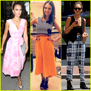 Jessica Alba Brings Her Fashionable Self to Morning Show Appearances