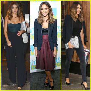 Jessica Alba Steps Out in Style for Busy 'Sin City: A Dame to Kill For' Promo Day!