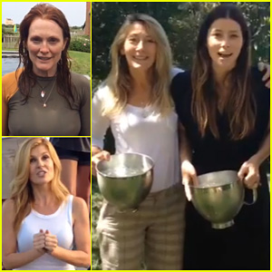 Jessica Biel Takes On the ALS Ice Bucket Challenge with Her Mom & Grandma - Watch Here!