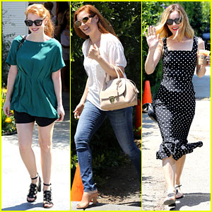 Jessica Chastain & Amy Adams Check Out a Star-Studded Day of Indulgence