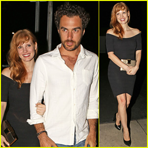 Jessica Chastain & Boyfriend Gian Luca Passi De Preposulo Are Super Cute After Giorgio Baldi Dinner Date