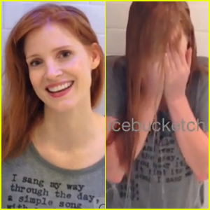 Jessica Chastain Takes the Icy Plunge With the Ice Bucket Challenge - Watch Now!